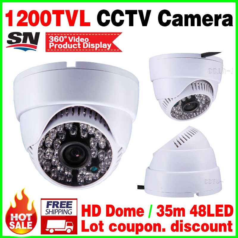 цены  New Upgrade 48led 1200tvl HD cctv camera CMOS Analog PAL or NTSC security vidicon infrared Night Vision Dome Indoor home video