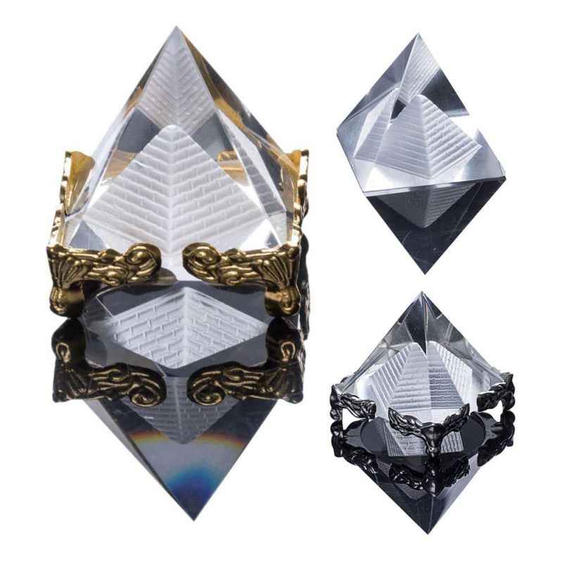 Detail feedback questions about quartz crystal glass pyramid