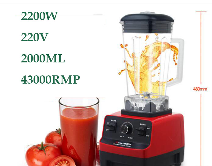 EU/UK/US/AU Plug  2200W  2L commercial grade professional ice smoothie blender mixer juicer food processor 220V/110V