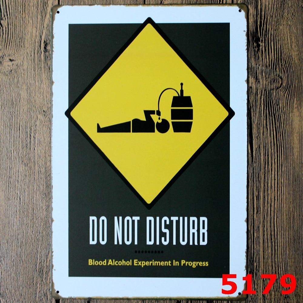 Do Not Disturb Vintage Home Decor Tin Sign Coffee Shop Wall Decor ...