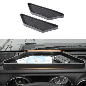 Black Car Dashboard Storage Bo