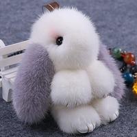 Mink fur grass bunny bag rabbit pendant mini loaded genuine genuine jewelry sprouting rabbit key chain