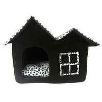 Hot Selling Pet Kennel Princess House Soft DogCat Bed Cotton Warm Pet Kennel For Pets for Puppy Dog Cat With Paw