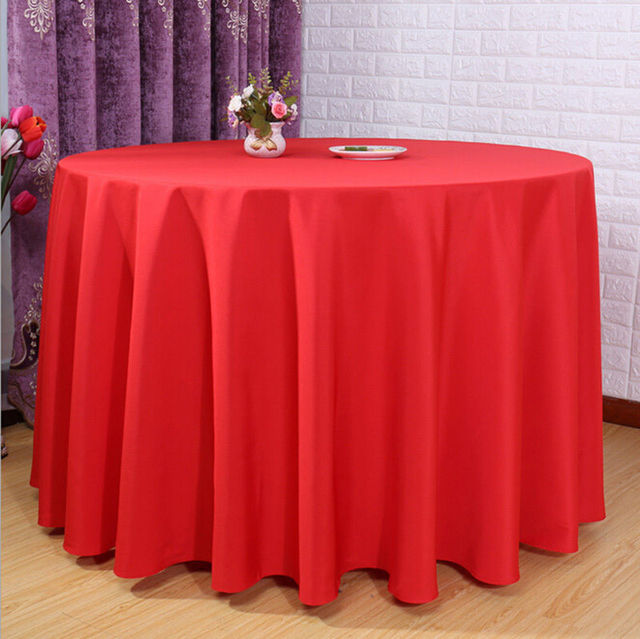 """Big Discount 120"""" Round Polyester 10pcs Many Colors Table Cloth For Wedding &Party &Resturant Decoration FREE SHIPPING Marious"""