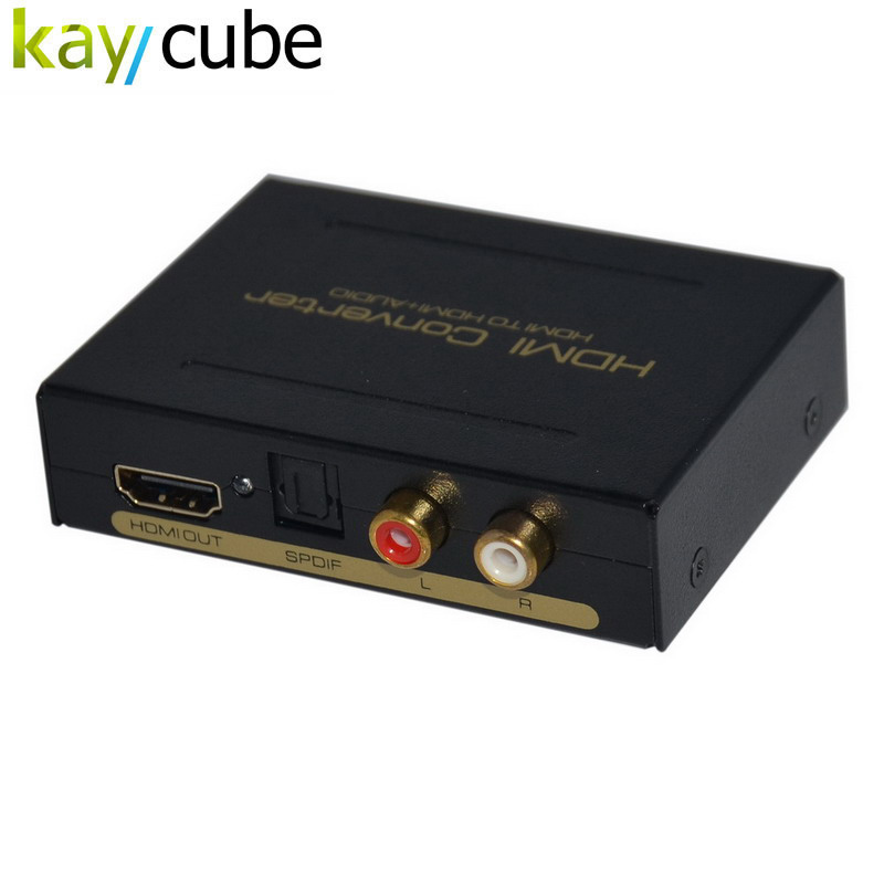 Kaycube High Quality 2 Port HDMI Audio Extractor HDMI Optical Spdif Toslink + L / R Converter Stereo Analog Audio Extractor EU ...