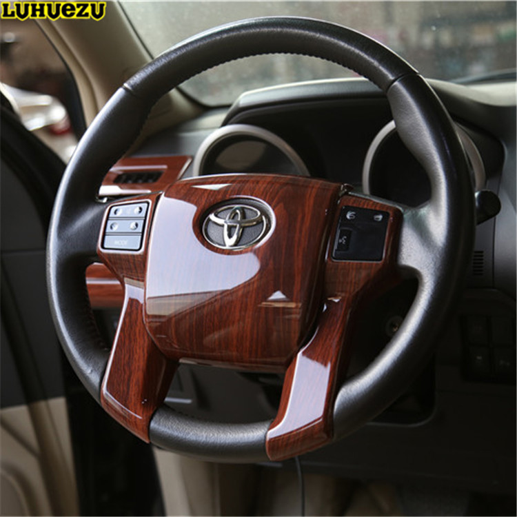 Luhuezu For Land Cruiser Prado LC150 Car Interior Steering wheel Dash Board Panel Trims Styling Cover 2010-2017 Accessories car interior accessories interior moulding trim for toyota land cruiser 150 prado lc150 fj150 2010 2017 mahogany color 30pcs