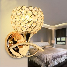 Led Crystal Wall light Sconce Living Room Bedroom Wall lamp luminaria Home Lighting Modern Wall Lights Lampshade Bathroom Light modern 2 light g9 led wall lamp glass tube shades baton wall lamp bedsides lighting luminaria lamparas