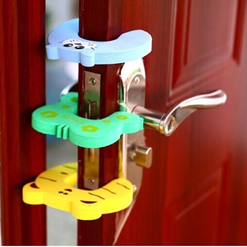 Детская безопасность защиты Анти защитный замок клип животных Безопасный карты Дверной стопор