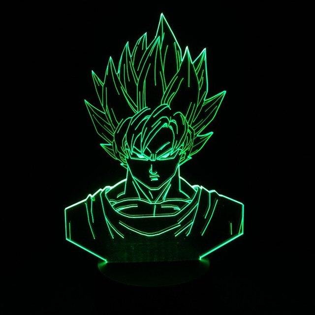 Dragon Ball Z Super Saiyan 3 Goku Action Figures 3d Table Lamp 2016