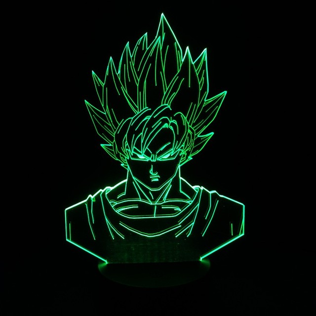 Dragon Ball Z Super Saiyan Goku 3D Table Lamp