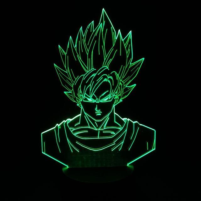 Dragon Ball Z Super Saiyan 3D Table Lamp