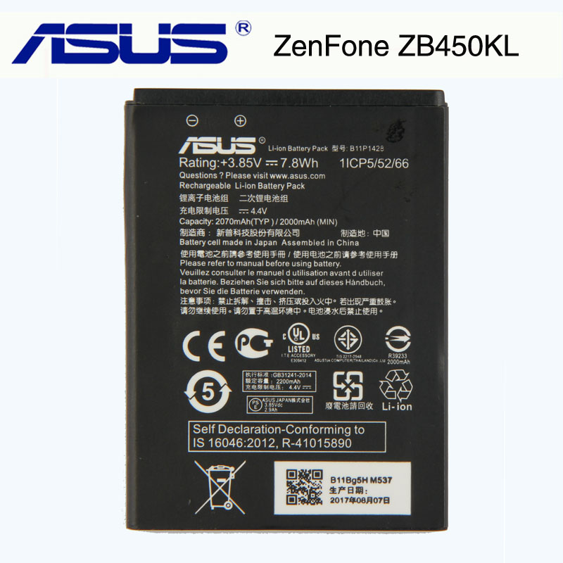 Original ASUS High Capacity B11P1428 Phone Battery For ASUS ZenFone ZB450KL ZB452KG 2000mAh 2018 newOriginal ASUS High Capacity B11P1428 Phone Battery For ASUS ZenFone ZB450KL ZB452KG 2000mAh 2018 new
