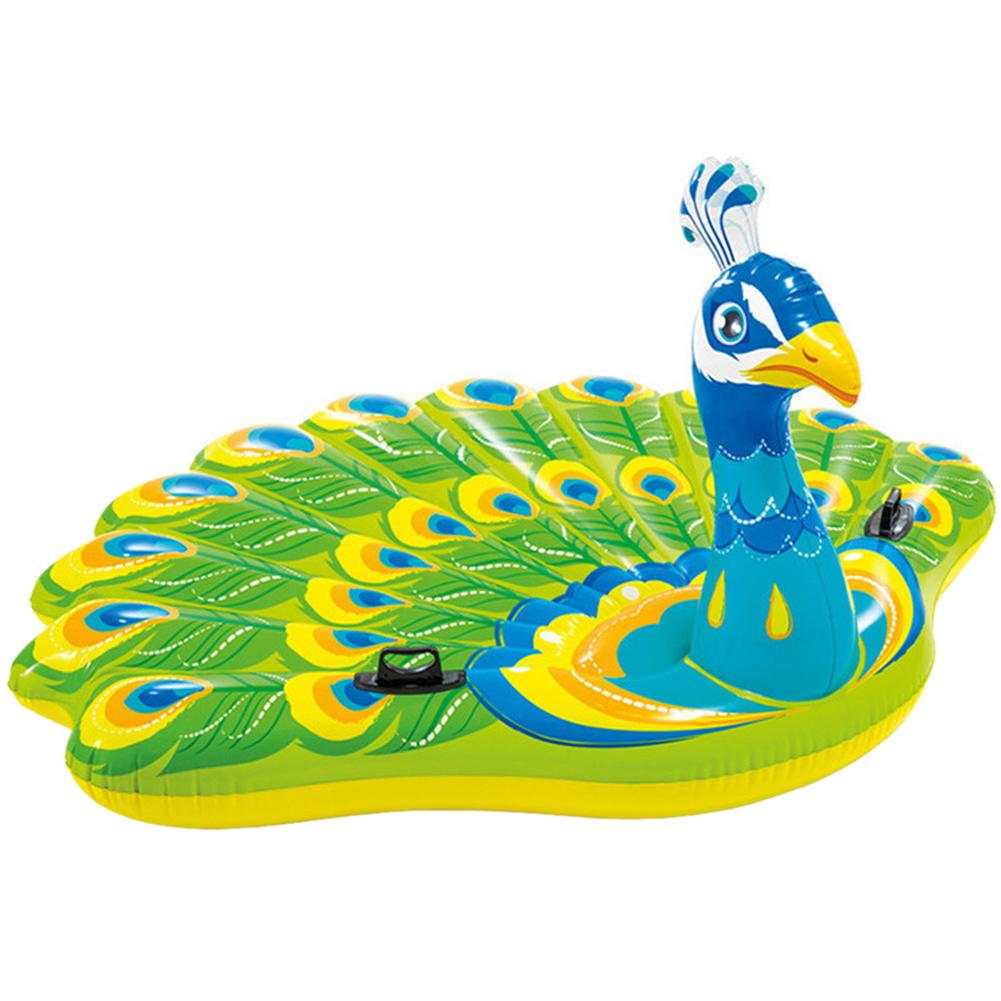 NEW Adults Peacock Shape PVC Inflatable Safety Water Floating Cushion Mat Pad ToyNEW Adults Peacock Shape PVC Inflatable Safety Water Floating Cushion Mat Pad Toy