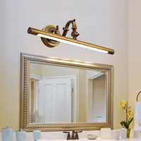 Free Shipping Europe Style LED Copper Mirror Headlight Bathroom Cabinet Lamp Retro American Bed Room Makeup Lamp 45cm/58cm/75cm