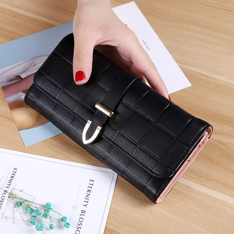 3a816c8eed ... Female Long Leather Purse Hasp Purses Phone Card Holders Big Capacity  Ladies Wallets Clutch Carteras. -54%. Click to enlarge