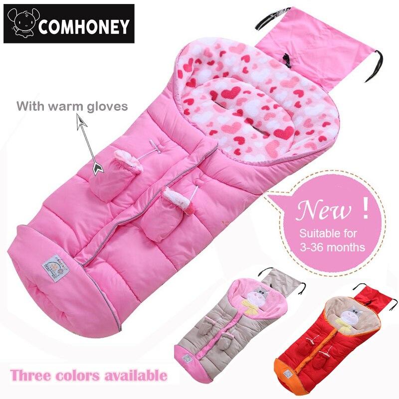 Зимние Уход за младенцами коляска спальный мешок для Флисовое одеяло для пеленания для коляски новорожденных sleepsack конверт детское одеяло 3-36 м