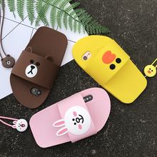 Cony, Brown and Sally Slipper Phone Case for iPhone 6 6s Plus 7 8 Plus X XR XS Max