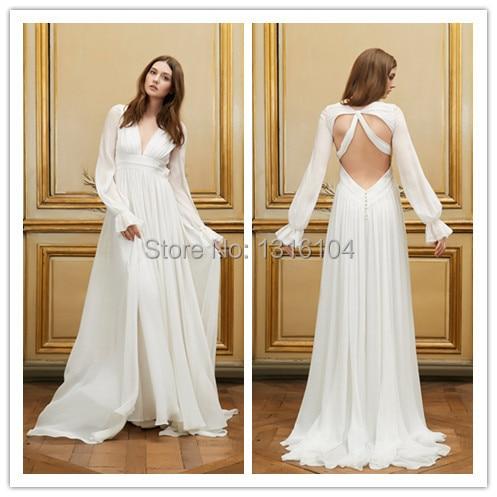 Online get cheap celtic wedding dresses for Long sleeve casual wedding dresses