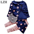 LZH Toddler Girls Clothing Sets 2017 Autumn Kids Girls Clothes Sets Cardigan+Pant Outfits Baby Girl Sport Suit Children Clothing