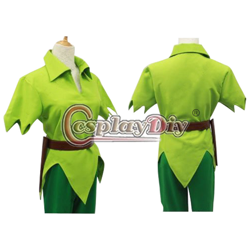 cosplaydiy peter pan costume green fancy dress adult men halloween cosplay costume custom made d0528 in anime costumes from novelty special use on
