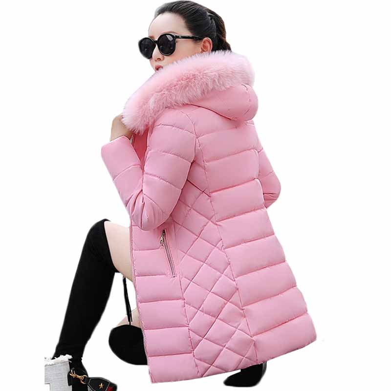 Fake Fur Parkas Women Down Cotton Jacket New 2018 Winter Jacket Women Thick Wear Winter Coat Lady Clothing Female Jackets Parkas