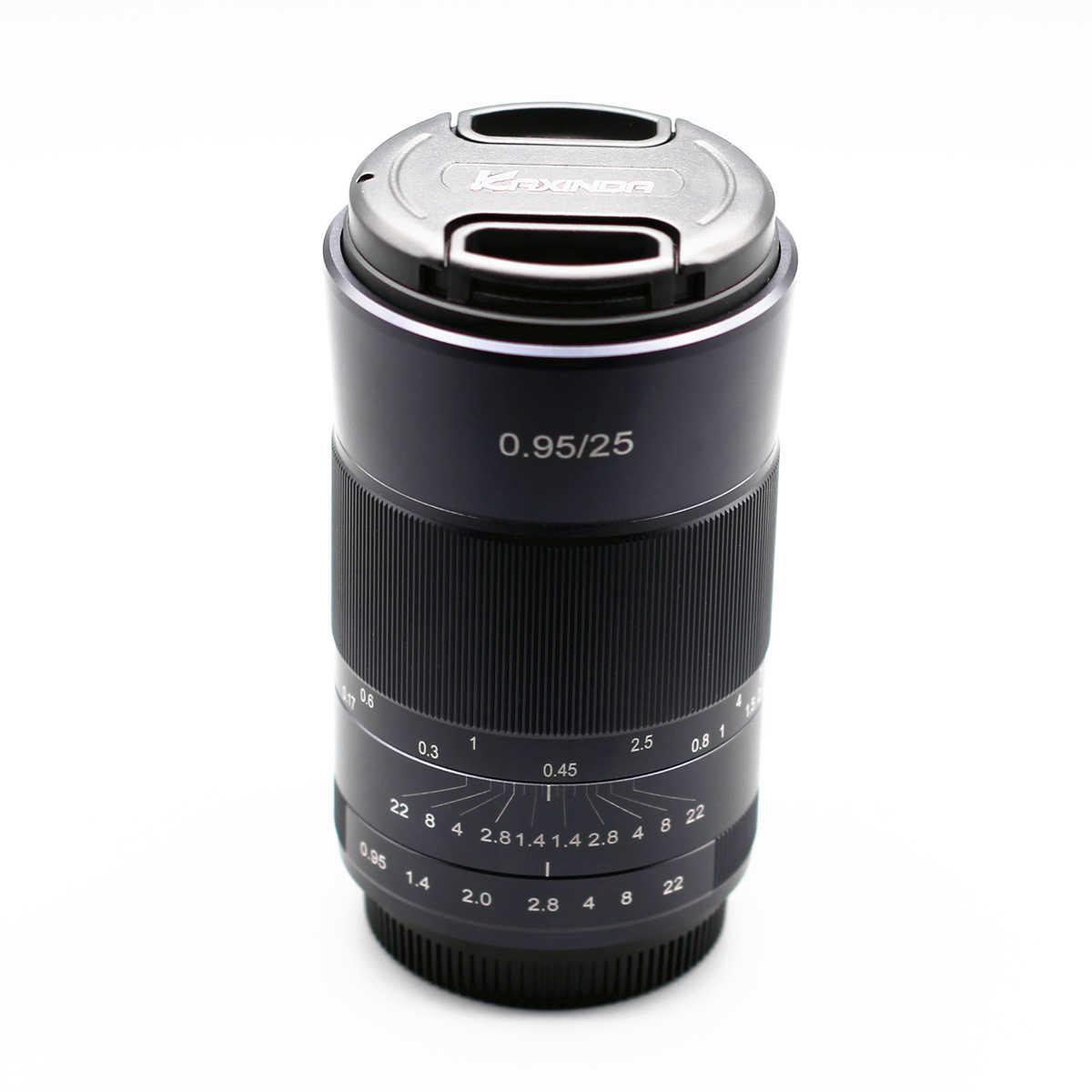 Kaxinda 25 мм f/0,95 стандартный ручной объектив с большой диафрагмой для Canon sony Fujifilm Olympus Panasonic беззеркальная камера