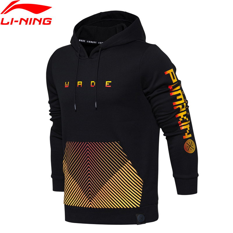 Li Ning Men Wade Sweater Hoodie Comfort Regular Fit LiNing Printed Sports Tops AWDM929 MWW1382