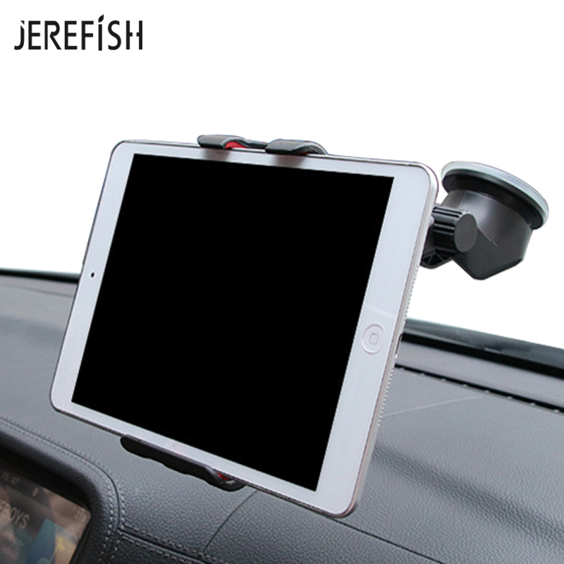 JEREFISH Windshield Car Tablet Phone Holder Dashboard Car Phone Mount for iPhone Samsung Huawei iPad Mini xiaomi Car Holder mobile phone