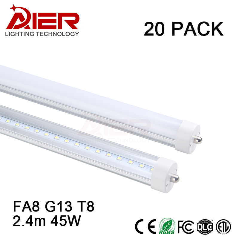 fa8 single pin 8ft led tube light 24m 8ft t8 led fluorescent tube replacement 45w