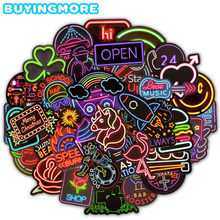 50 PCS Neon Light Sticker Gifts font b Toys b font for Children Anime Animal Cute