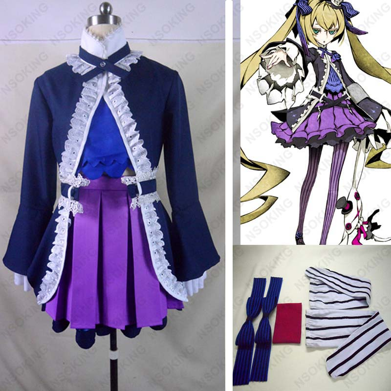 Anime 7th Dragon 2020 Hacker VOCALOID Cosplay Costume Custom made
