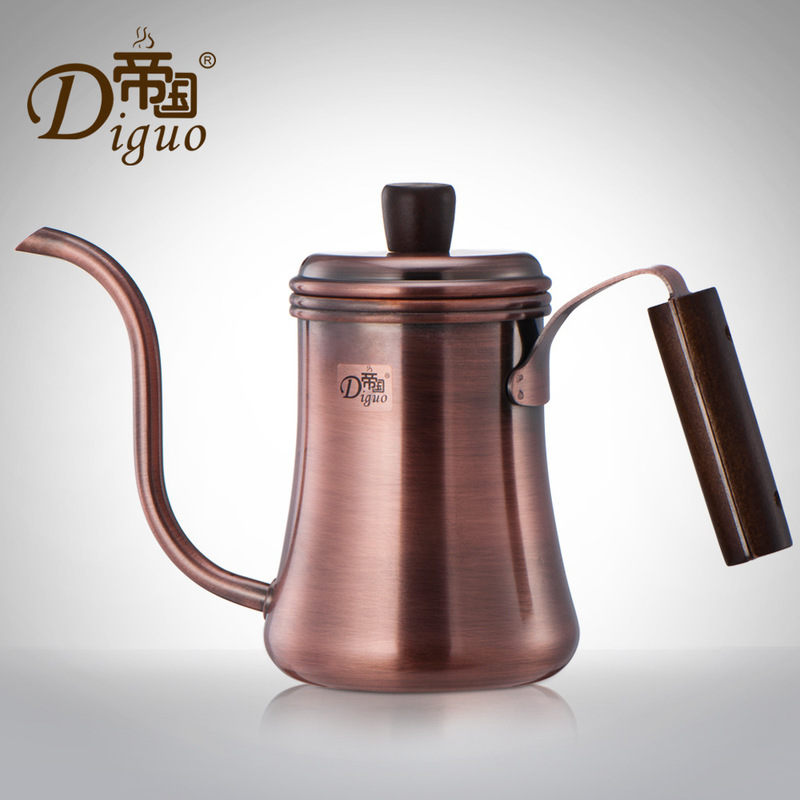 Classic Pour Over Drip Coffee Kettle, Premium Stainless Steel with Copper Coating Gooseneck Coffee Tea Pot (0.7 Liter)