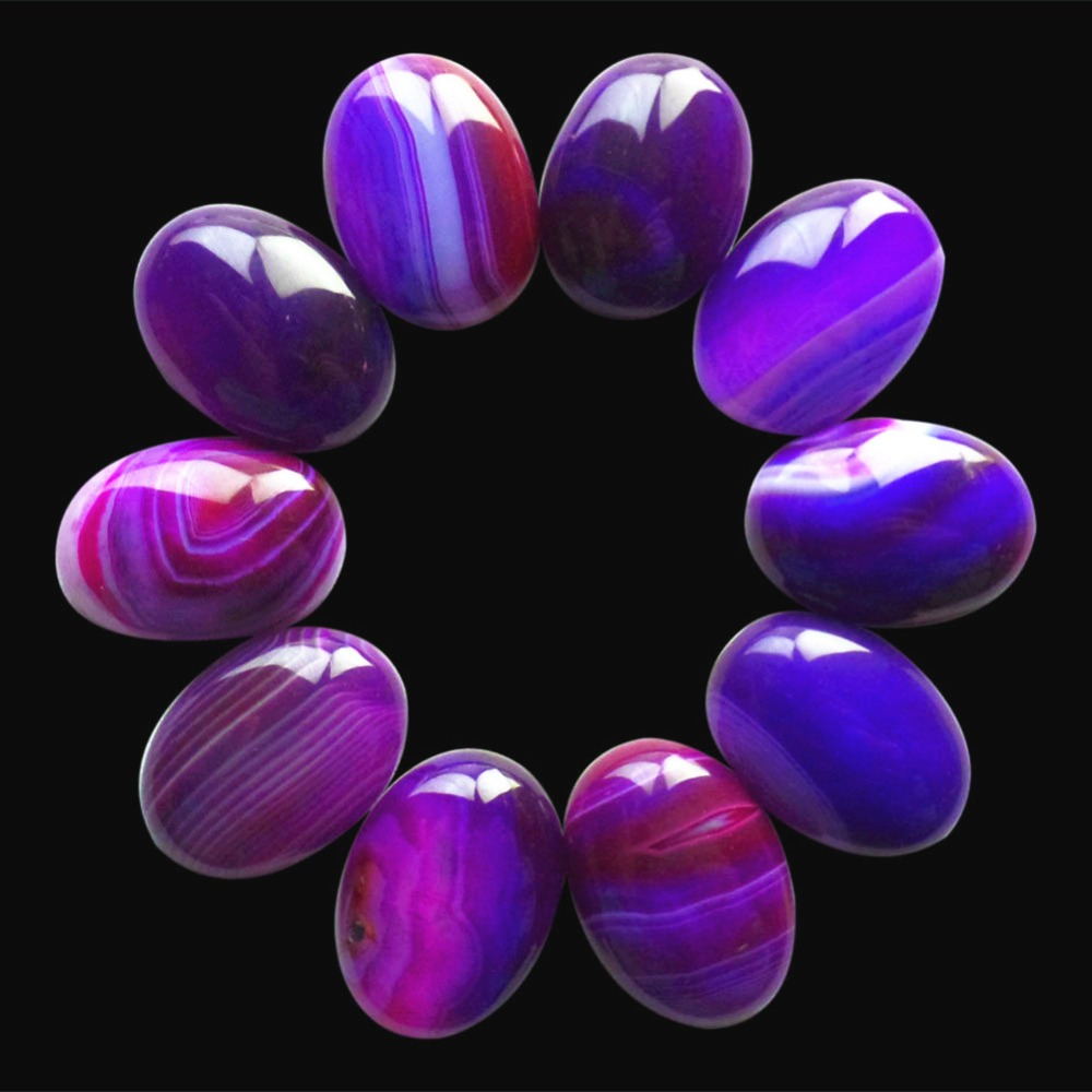 (10 pieces/lot) Wholesale Natural Onyx Agates Oval CAB Cabochon 20x15x5mm Free Shipping Fashion Jewelry B0013740