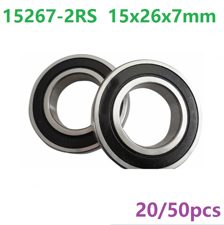 20pcs or 50pcs 15267-2RS 15267RS 15267 2RS 15x26x7 mm deep groove ball bearing bicycle bottom bracket bearing 15*26*7 abxg 23327 2rs speed connection drum bearing 23327 2rs for sram bicycle hub repair parts bearing 23x32x7 mm 23 32 7 mm