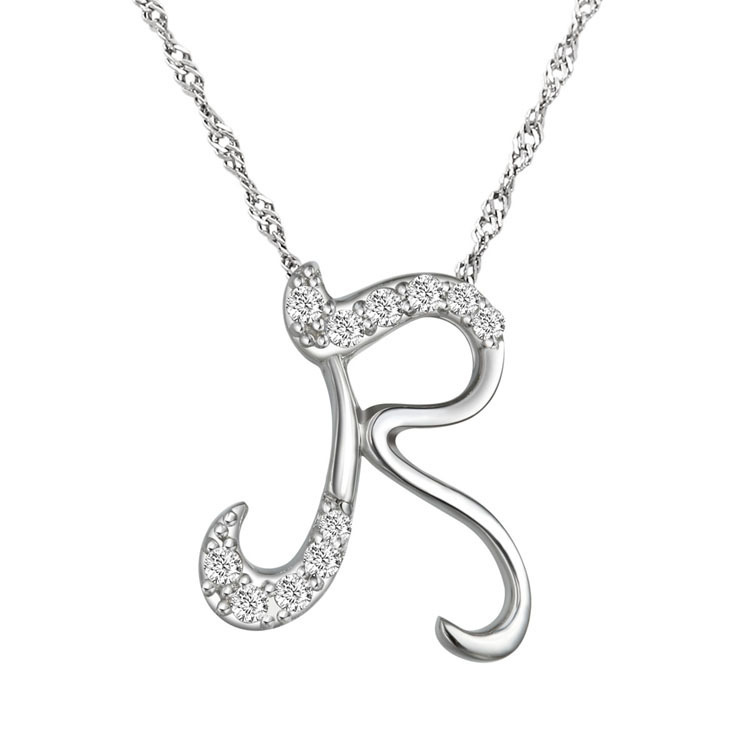 10pcs/lot Newest Letter R Pendant Necklace, Letter Initial