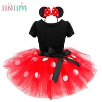 Iiniim Kids Baby Girls Minnie Mouse Tutu Dress With Ear Headband Carnival Party Fancy Costume Ballet