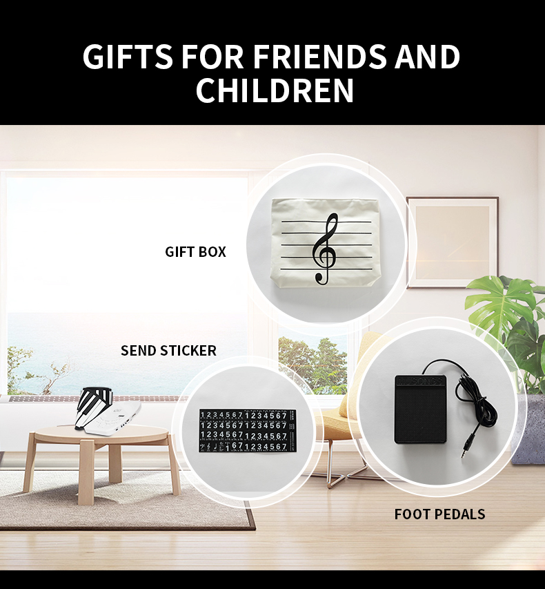 88 key piano keyboard soft portable midi digital controller synthesizer roll up piano  Beginner electronic Musical Instruments-3