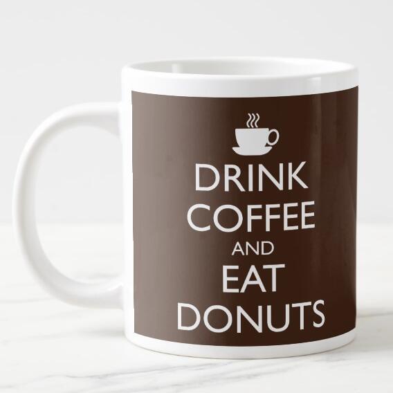 Citaten Koffie English : Nieuwigheid drink koffie en eten donuts mokken grappig citaat
