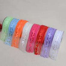 Hollow Ribbon 3.8 cm * 20 Yards DIY Gift Woven lace Clothing Shoes Accessories Decorative Empty Wedding Satin Ribbon Satin