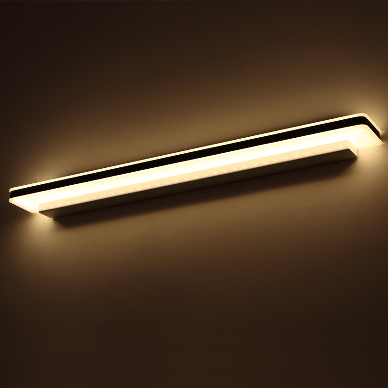 ФОТО High Brightness Longer LED Mirror Light 0.4M~1.5M AC90-260V Modern Brief Cosmetic Crystal Wall lamp Bathroom Lighting Waterproof