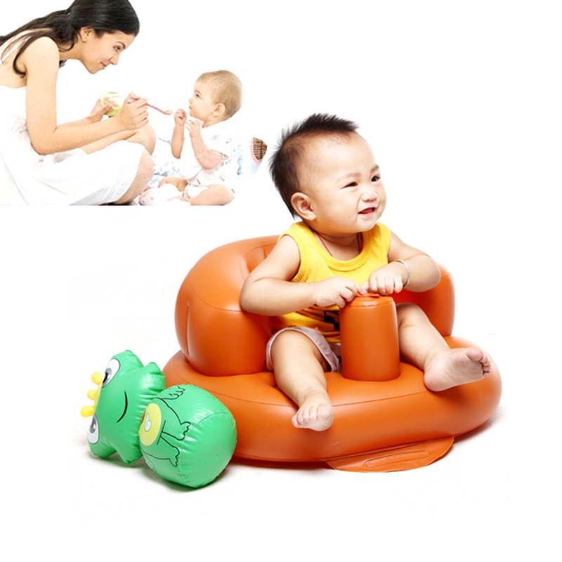 comfortable baby inflatable seat booster baby feeding chair portable rehausseur child bath sofa. Black Bedroom Furniture Sets. Home Design Ideas