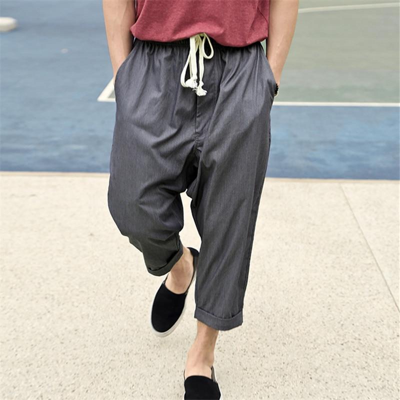 2017 Spring & summer new men's Haren pants men short pants casual mens pants loose sweatpants for men hip hop men short pants casual men short pantsshort pants - AliExpress