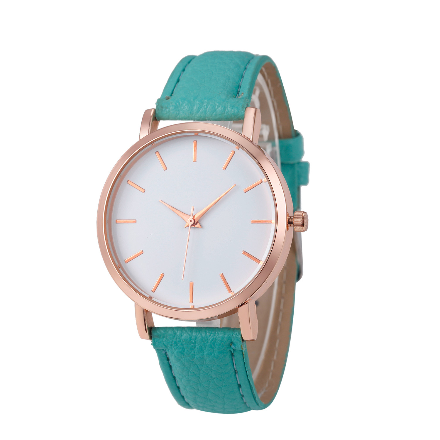 Fashion Lady Watch with Turquoise Leather Strap