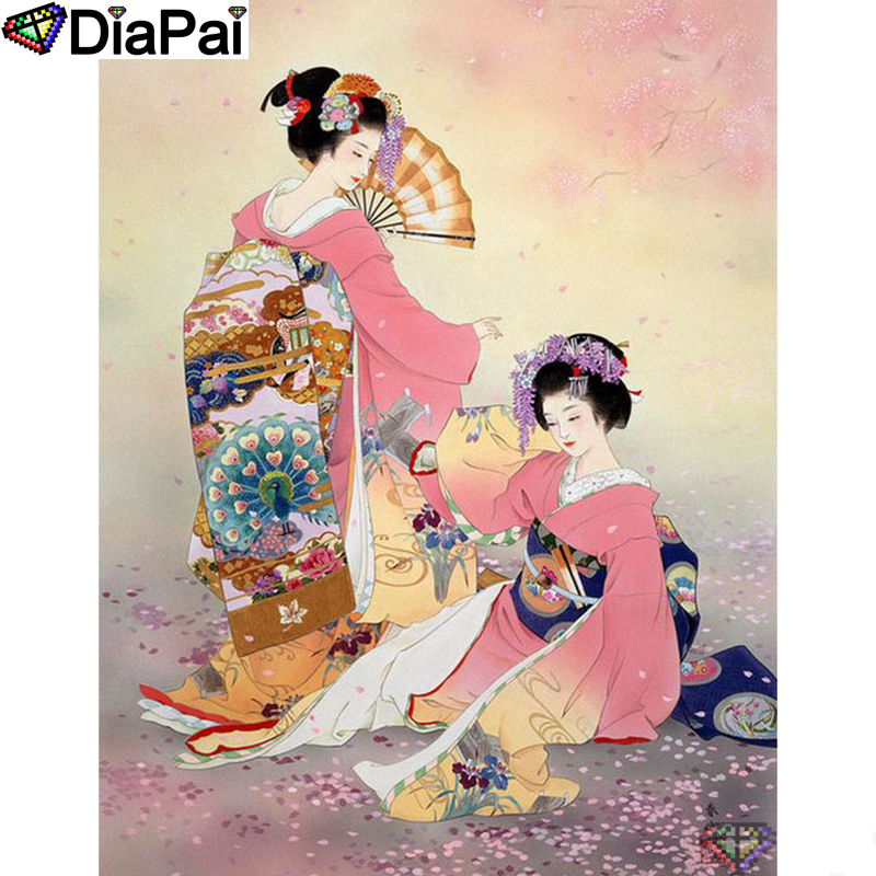 "DIAPAI 5D DIY Diamond Painting 100% Full Square/Round Drill ""Beauty character"" Diamond Embroidery Cross Stitch 3D Decor A22795(China)"