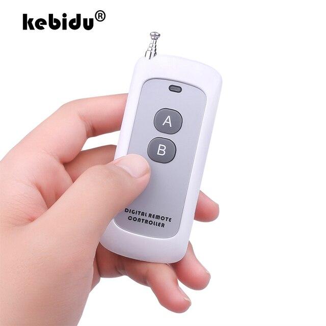 Antena de 2 4 botones, mando a distancia de 433mhz, mando inalámbrico de largo alcance, módulo de radiofrecuencia, mando a distancia (código de aprendizaje 1527)