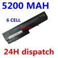 5200 mah batería del ordenador portátil para hp compaq 6910 p 6510b 6515b 6710b 6715b 6710 s 6715 s nc6100 nc6105 nc6110 nc6115 nc6120