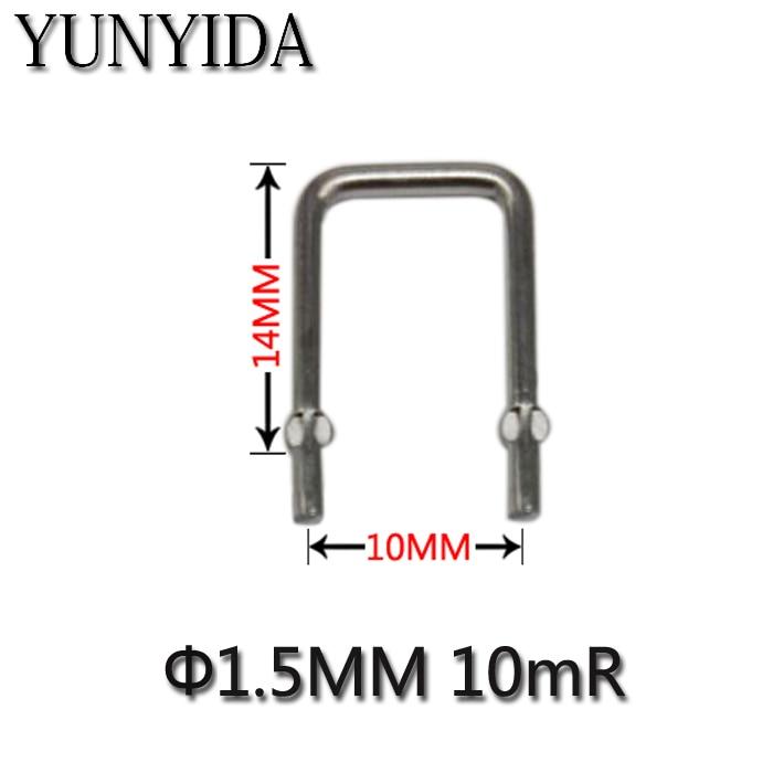01-06 10pcs Constantan Resistance / Sampling Resistor 0.01R/10mR/10 Milliohms / Pitch 10mm / 1.5mm Diameter