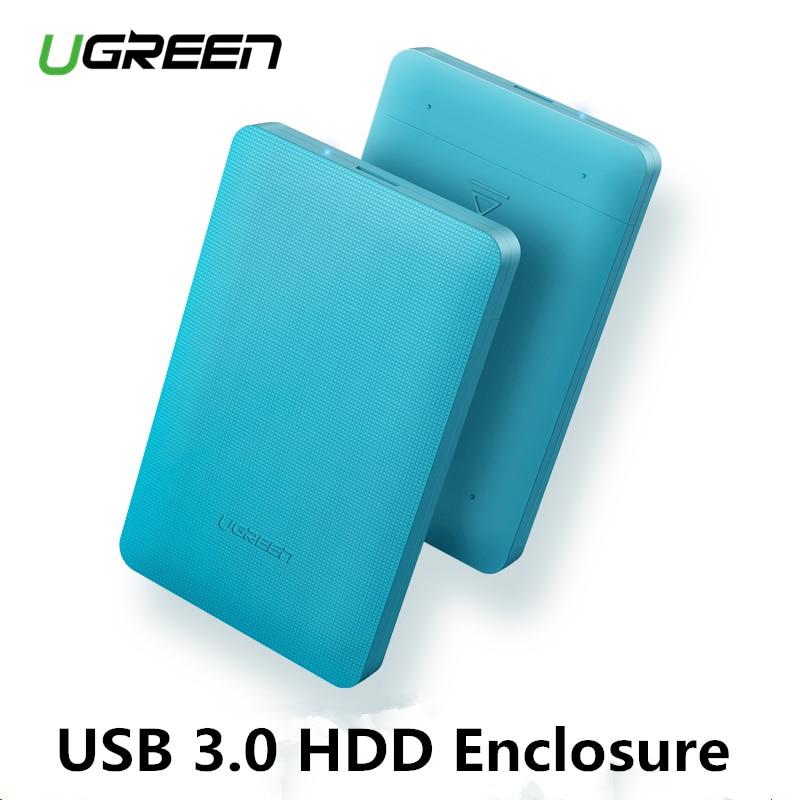 Ugreen 2,5 caso HDD SATA a USB 3,0 adaptador de disco duro externo carcasa para SSD disco HDD caja HD SSD de 2,5 caso SATA a USB