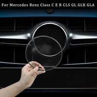 Para Mercedes Benz clase C E R CLS GL GLK GLA CLA X177 X156 W205 W212 W213 GLK200 260 emblema de parrilla frontal cubierta protectora acrílica