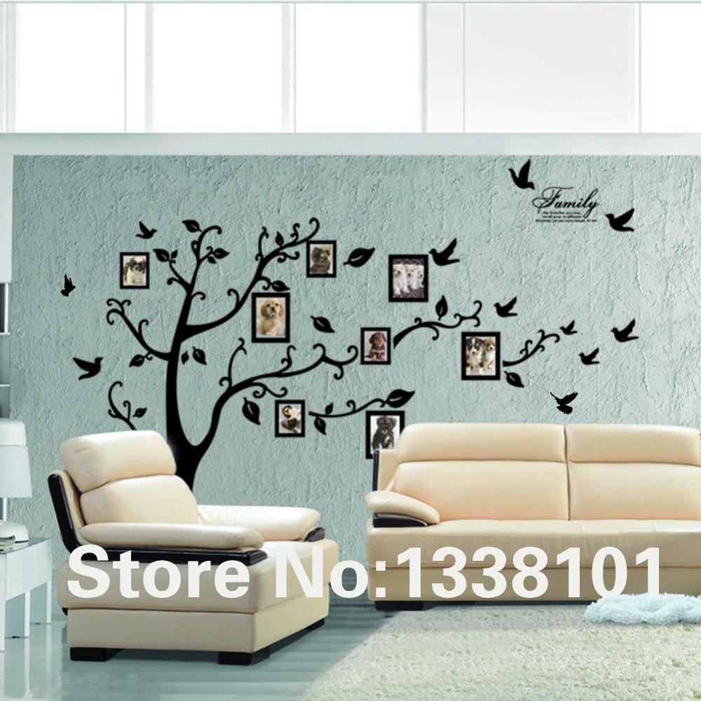 HTB1cfrOKXXXXXXoXVXXq6xXFXXXh - Free Shipping:Large 200*250Cm/79*99in Black 3D DIY Photo Tree PVC Wall Decals/Adhesive Family Wall Stickers Mural Art Home Decor